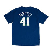 DALLAS MAVERICKS YOUTH HWC DIRK NUMBER & NUMBER TEE