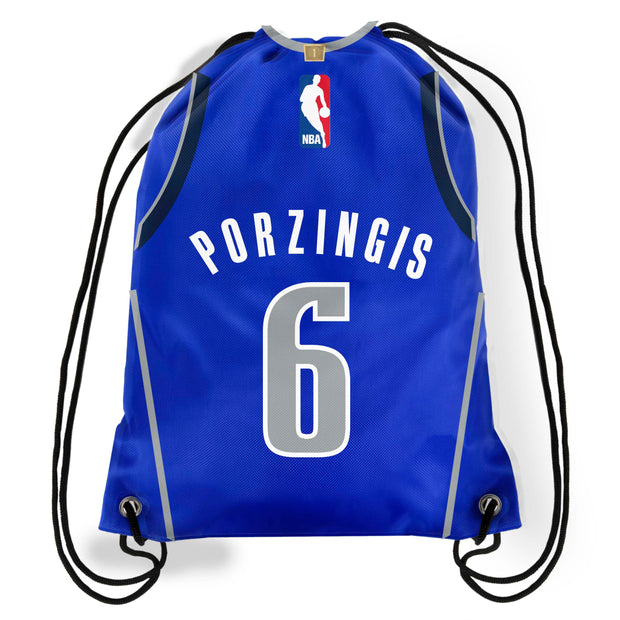 DALLAS MAVERICKS KRISTAPS PORZINGIS DRAWSTRING BACKPACK