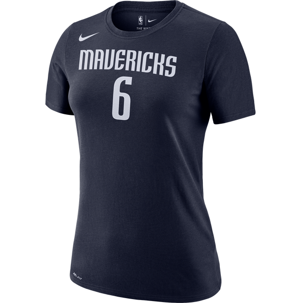 DALLAS MAVERICKS KRISTAPS PORZINGIS WOMEN'S STATEMENT NAME & NUMBER TEE