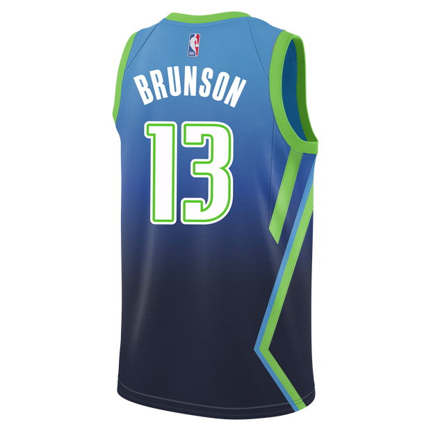 DALLAS MAVERICKS JALEN BRUNSON CITY EDITION 19-20 SWINGMAN JERSEY