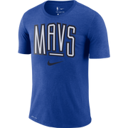 DALLAS MAVERICKS NIKE MAVS WORDMARK ROYAL TEE