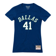 DALLAS MAVERICKS WOMENS HWC DIRK NAME & NUMBER TEE