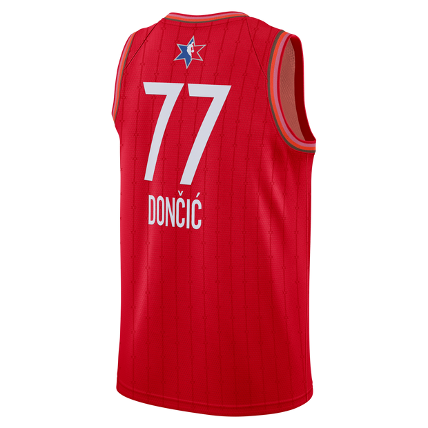 DALLAS MAVERICKS LUKA DONCIC ALL-STAR 2020 RED SWINGMAN JERSEY