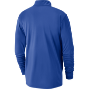 DALLAS MAVERICKS NIKE ROYAL ELEMENT HALF ZIP LONG SLEEVE TOP