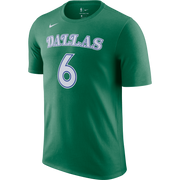 DALLAS MAVERICKS NIKE KRISTAPS PORZINGIS 20-21 HARDWOOD CLASSIC NAME & NUMBER TEE