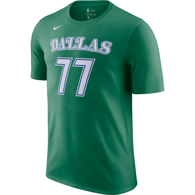 DALLAS MAVERICKS NIKE LUKA DONČIĆ 20-21 HARDWOOD CLASSIC NAME & NUMBER TEE