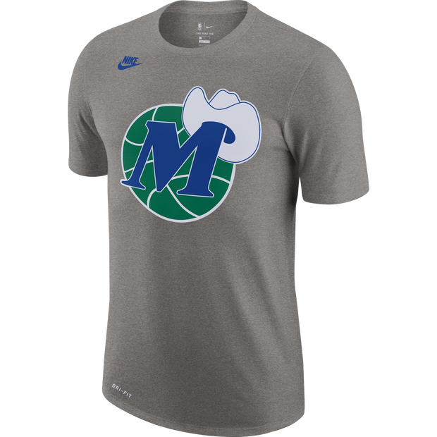 DALLAS MAVERICKS NIKE HARDWOOD CLASSIC M-HAT GRAY TEE