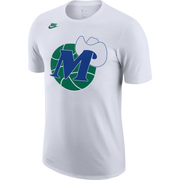 DALLAS MAVERICKS NIKE HARDWOOD CLASSIC M-HAT WHITE TEE