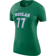 DALLAS MAVERICKS NIKE WOMEN'S LUKA DONČIĆ 20-21 HARDWOOD CLASSIC NAME & NUMBER TEE