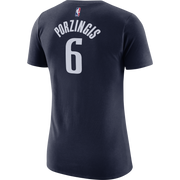 DALLAS MAVERICKS WOMENS KRISTAPS PORZINGIS STATEMENT JORDAN BRAND NAME & NUMBER TEE