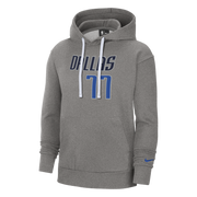 DALLAS MAVERICKS NIKE LUKA DONČIĆ GRAY NAME & NUMBER HOODIE