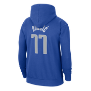 DALLAS MAVERICKS NIKE LUKA DONČIĆ ROYAL NAME & NUMBER HOODIE