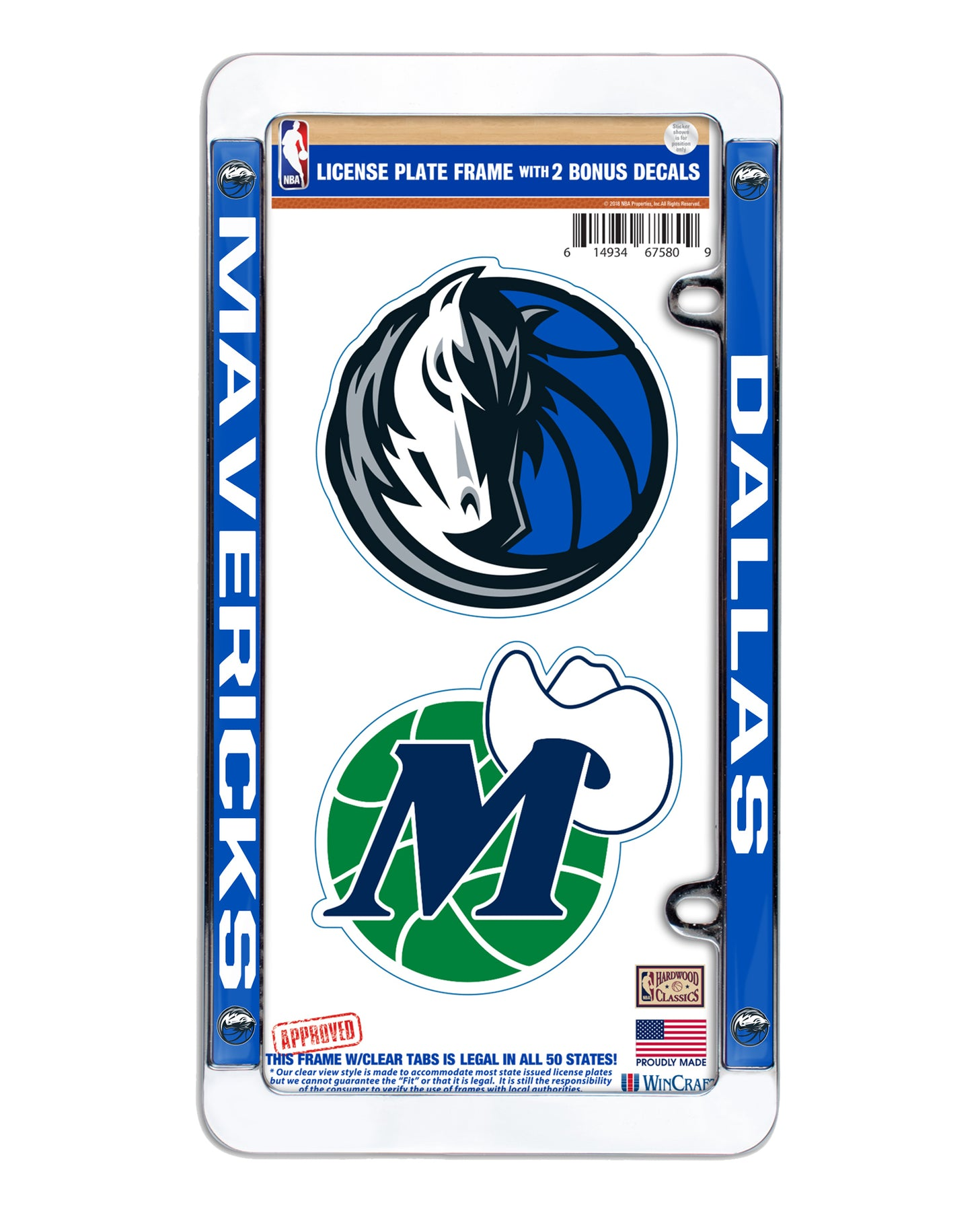DALLAS MAVERICKS CAR FRAME & BONUS DECALS – DallasMavs.Shop