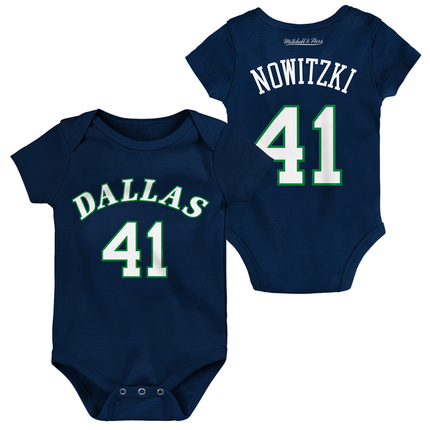 DALLAS MAVERICKS DIRK NOWITZKI HARDWOOD CLASSIC INFANT ONESIE