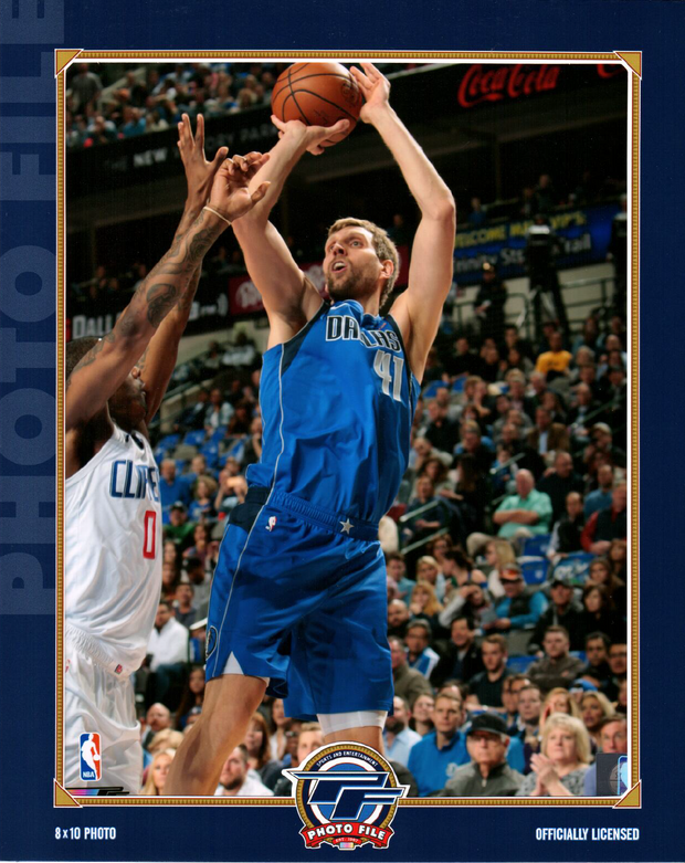 DALLAS MAVERICKS DIRK ICON 8X10 PHOTO