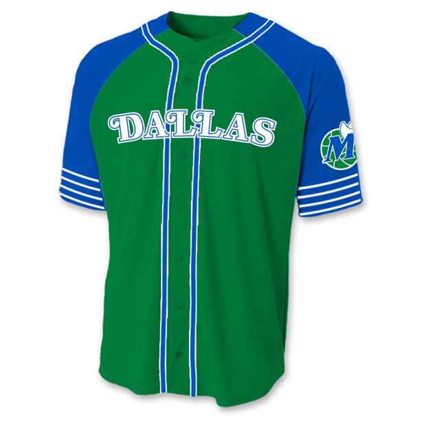DALLAS MAVERICKS HARDWOOD CLASSIC BASEBALL JERSEY