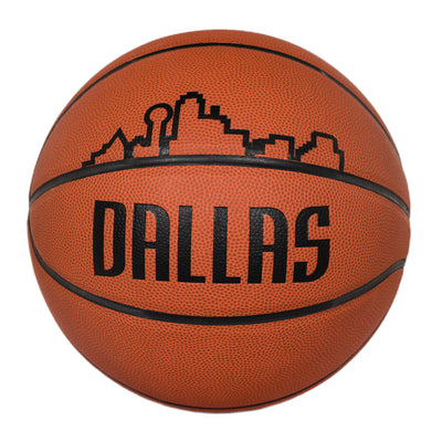 DALLAS MAVERICKS B7 LEATHER SKYLINE BASKETBALL
