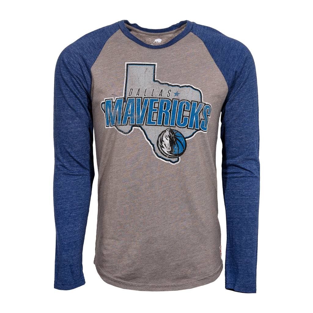 DALLAS MAVERICKS MENS SPORTIQE TEXAS CHANNING RAGLAN LONG SLEEVE