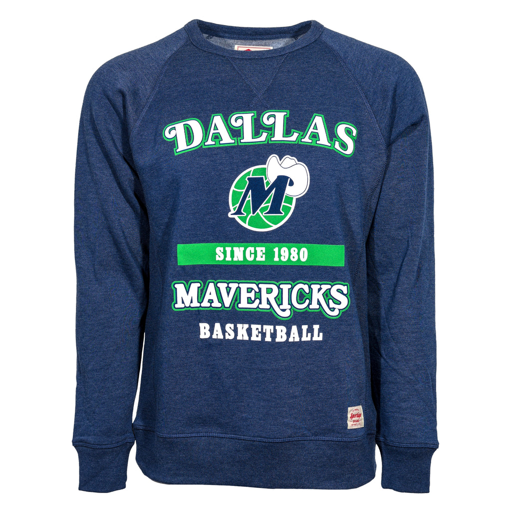 DALLAS MAVERICKS HWC DEREK LONG SLEEVE CREW NVY NAVY CURVY DALLAS