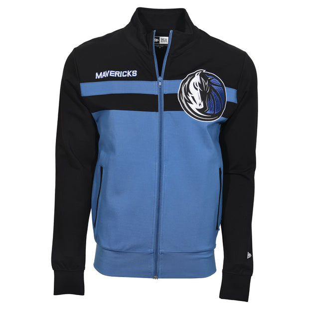 DALLAS MAVERICKS 5TH AND OCEAN BY NEW ERA 2 TONE TRACK JACKET
