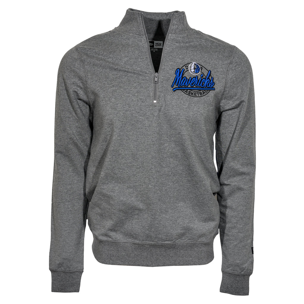DALLAS MAVERICKS 5TH AND OCEAN BY NEW ERA 3D EMBROIDER 1/4 ZIP