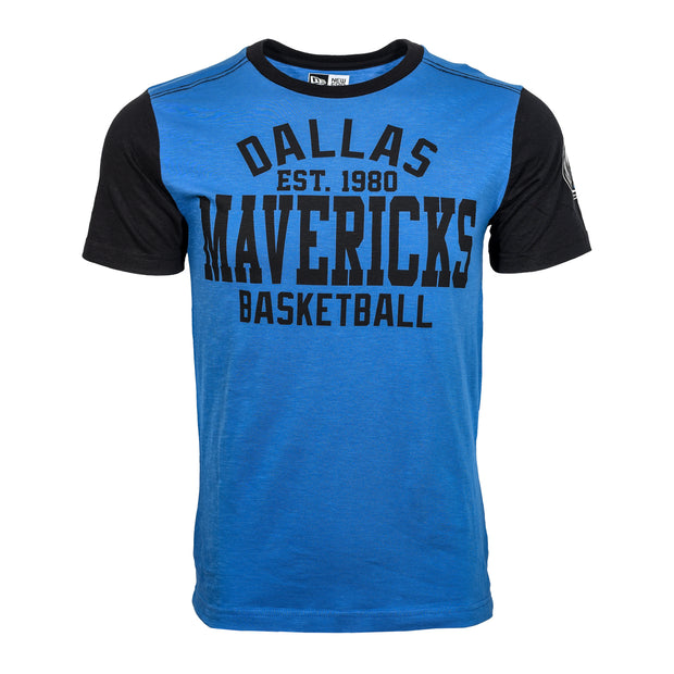 DALLAS MAVERICKS 5TH AND OCEAN BY NEW ERA CONTRAST SLEEVE TEE