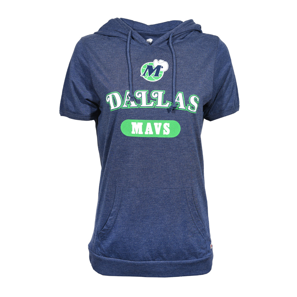 DALLAS MAVERICKS WOMENS HWC CASEY S/S HOODIE HOODY NAVY