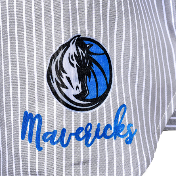 DALLAS MAVERICKS GAMEDAY COUTURE WOMENS OFF SHOULDER TOP THE HH SLEEVE TIE