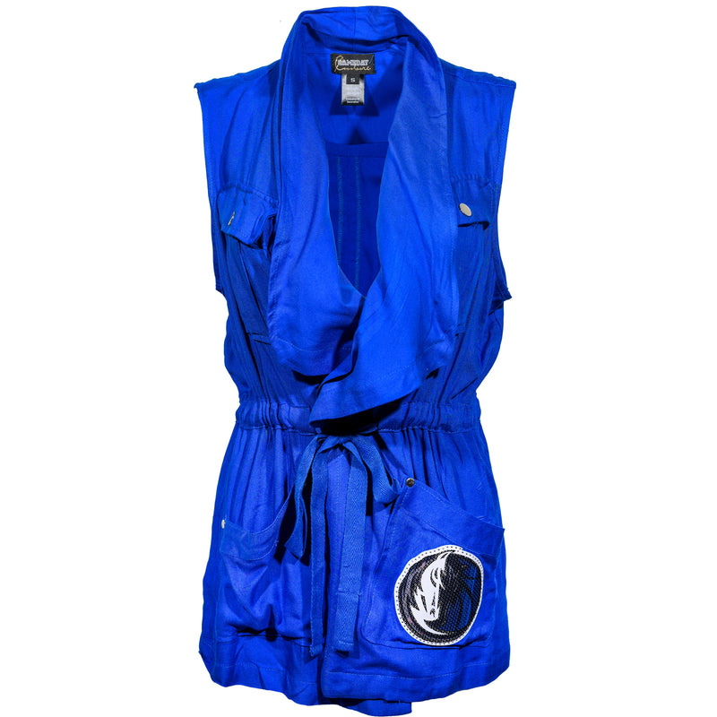 DALLAS MAVERICKS GAMEDAY COUTURE WOMENS UTILITY VEST ROYAL
