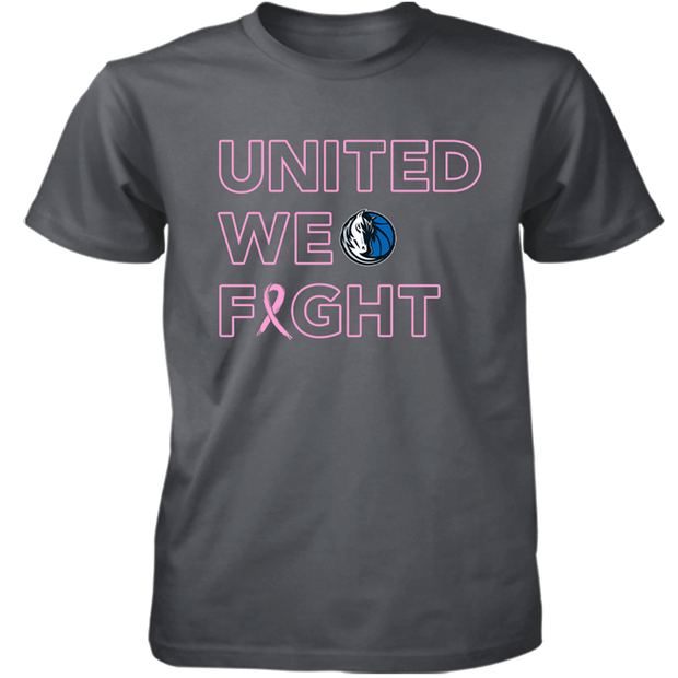 "DALLAS MAVERICKS ""UNITED WE FIGHT"" BREAST HEALTH AWARENESS TEE"