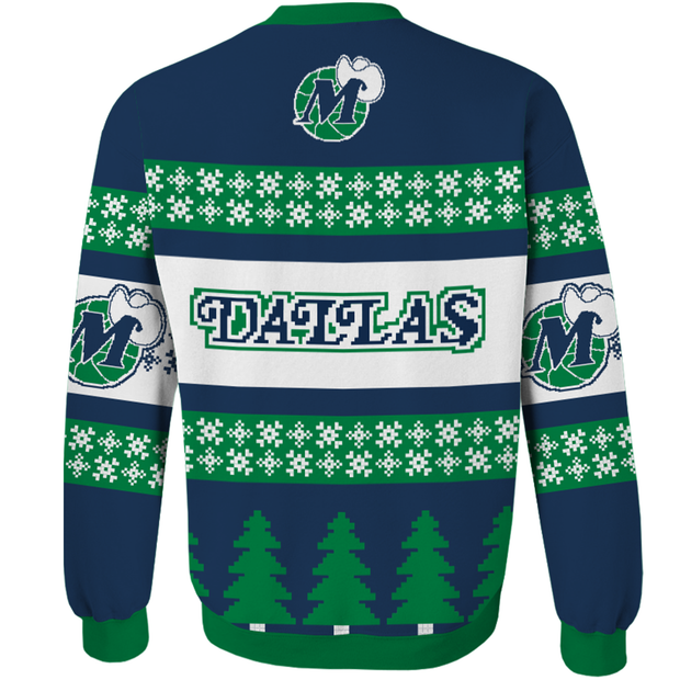 DALLAS MAVERICKS SOMETHING INKED HARDWOOD CLASSIC UGLY CHRISTMAS SWEATER