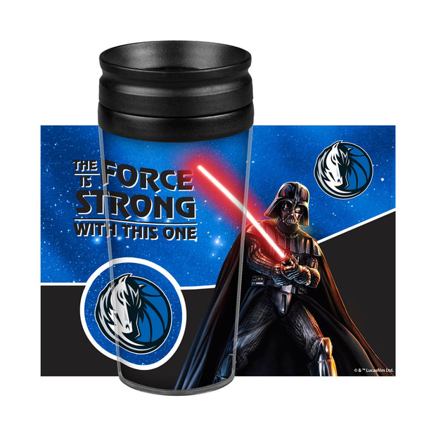 DALLAS MAVERICKS 14 OZ STAR WARS DARTH VADER TRAVEL TUMBLER