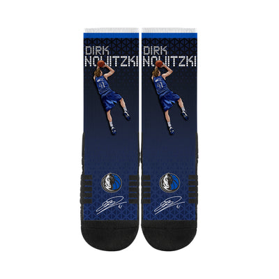 DALLAS MAVERICKS NOWITZKI PLAYER SOCK