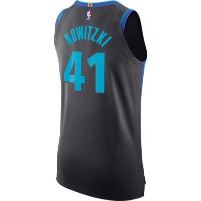 DALLAS MAVERICKS DIRK NOWITZKI NIKE CITY EDITION 2018-2019 AUTHENTIC JERSEY