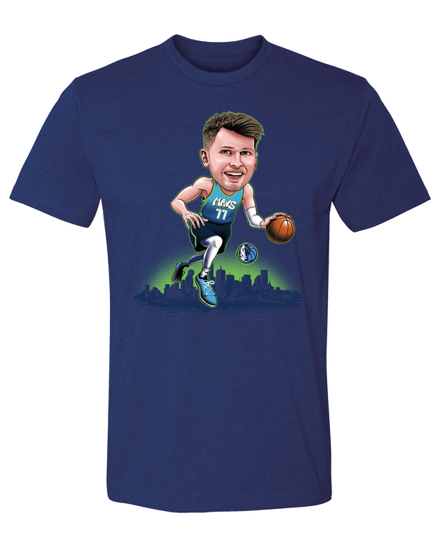 DALLAS MAVERICKS LUKA DONČIĆ CARICATURE CITY EDITION TEE
