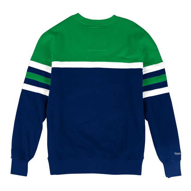 DALLAS MAVERICKS BIG & TALL HARDWOOD CLASSIC HEAD COACH CREW NECK SWEATER