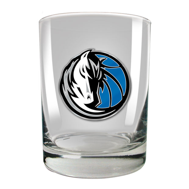 DALLAS MAVERICKS 14 OZ HORSE HEAD ROCKS GLASS