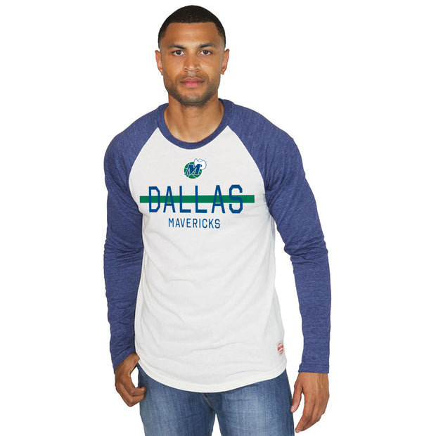 DALLAS MAVERICKS MENS SPORTIQE BAXTER CHANNING RAGLAN TEE