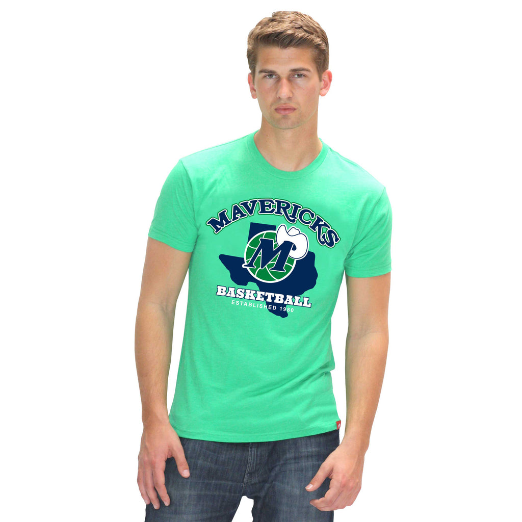 DALLAS MAVERICKS MENS SPORTIQE TEXAS COMFY TEE