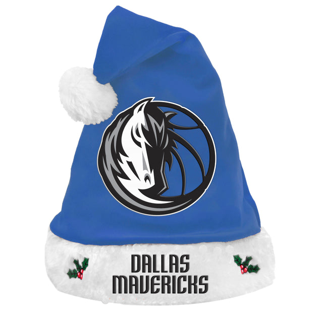 DALLAS MAVERICKS ROYAL SANTA HAT