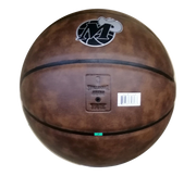 DALLAS MAVERICKS SPALDING HWC LEATHER RETRO BALL