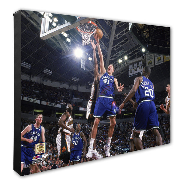 DALLAS MAVERICKS 'HWC' DIRK NOWITZKI CANVAS