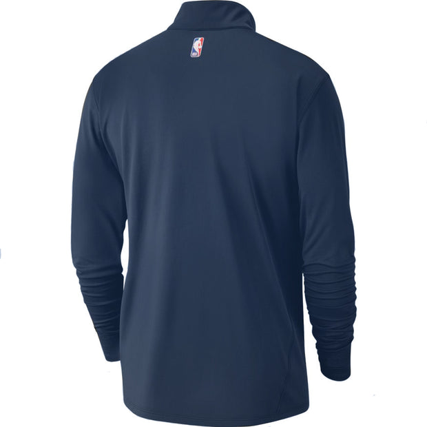 DALLAS MAVERICKS NIKE MEN'S ELEMENT HALF ZIP NAVY