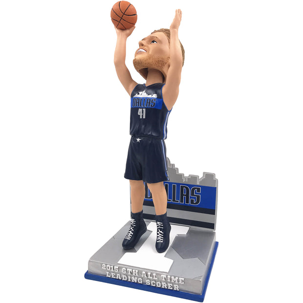 Dallas Mavericks - I - Dirk Nowitzki 6TH All-Time Leading Scorer Bobble Head