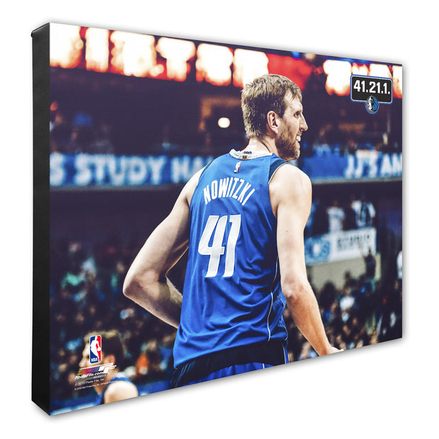 DALLAS MAVERICKS 'ICON' DIRK NOWITZKI CANVAS
