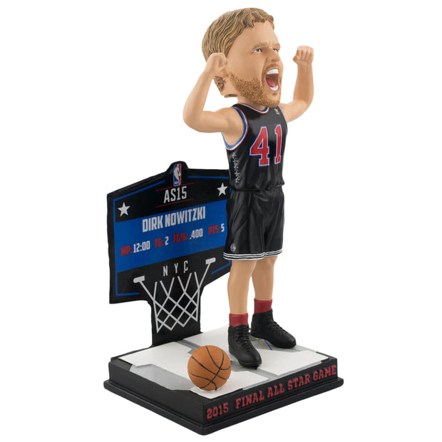 DALLAS MAVERICKS- K - DIRK NOWITZKI 2015 FINAL ALL-STAR GAME BOBBLE
