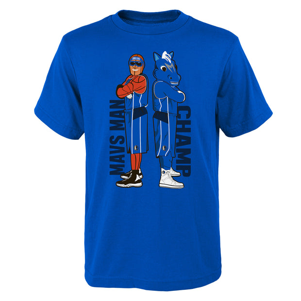 DALLAS MAVERICKS YOUTH MASCOT DUO TEE