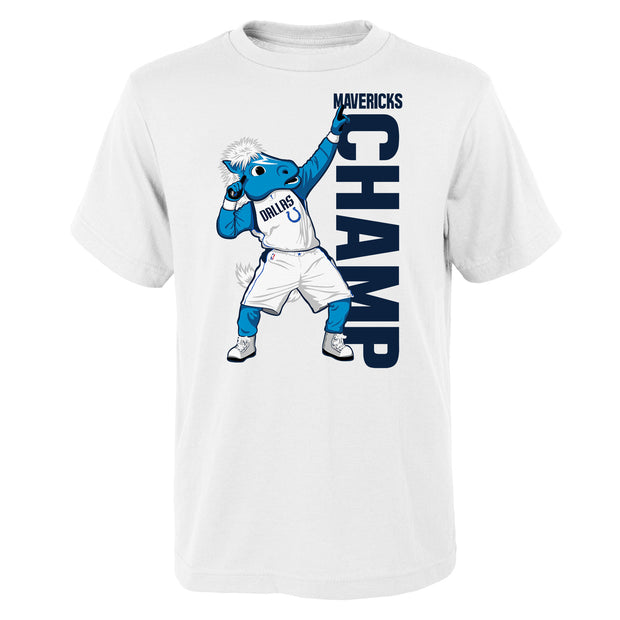 DALLAS MAVERICKS YOUTH CHAMP MASCOT TEE