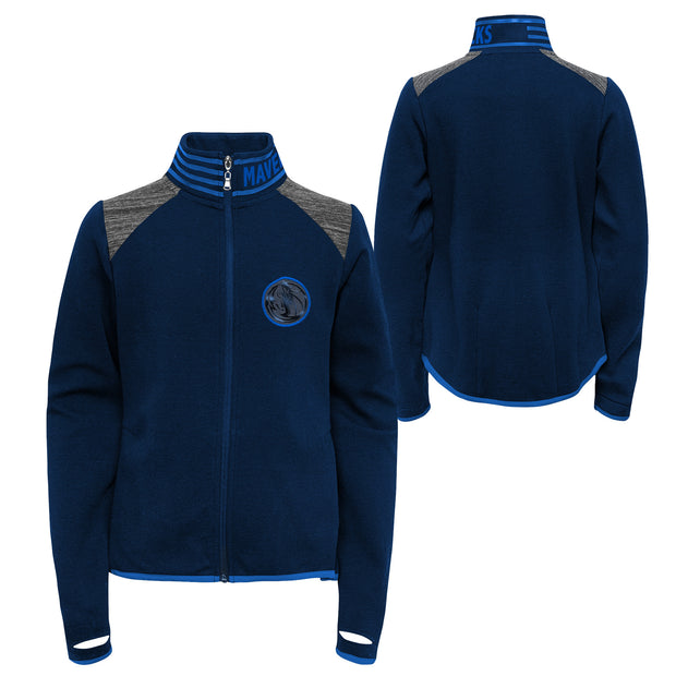 DALLAS MAVERICKS GIRLS AVIATOR FULL ZIP JACKET