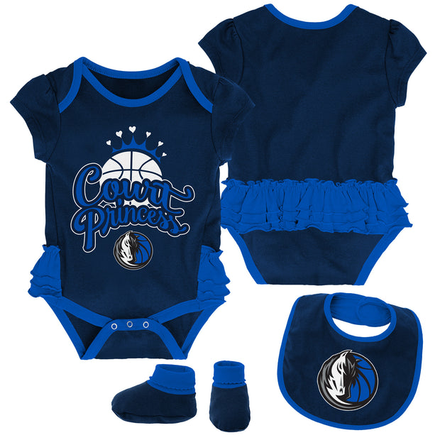 DALLAS MAVERICKS INFANT TRIFECTA ONESIE SET